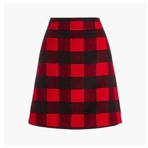 J. Crew Wool Blend A-Line Skirt